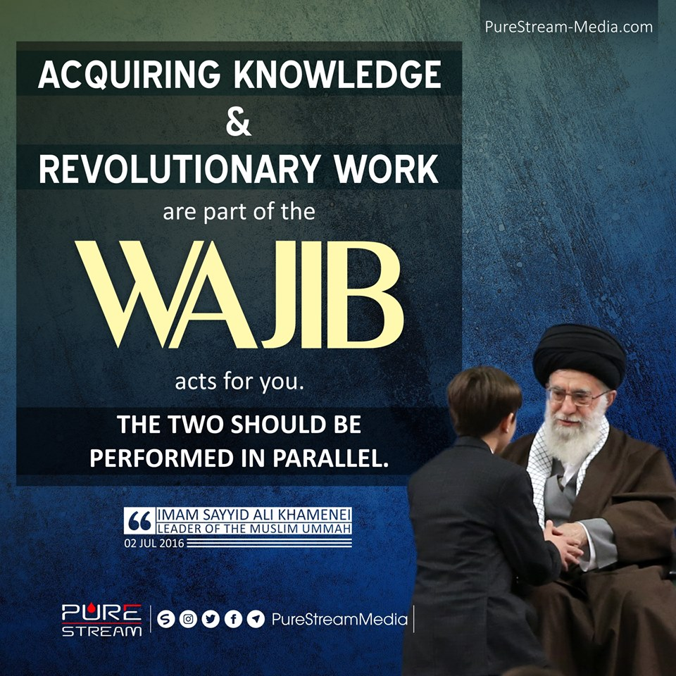 Acquiring knowledge & Revolutionary Work in parallel