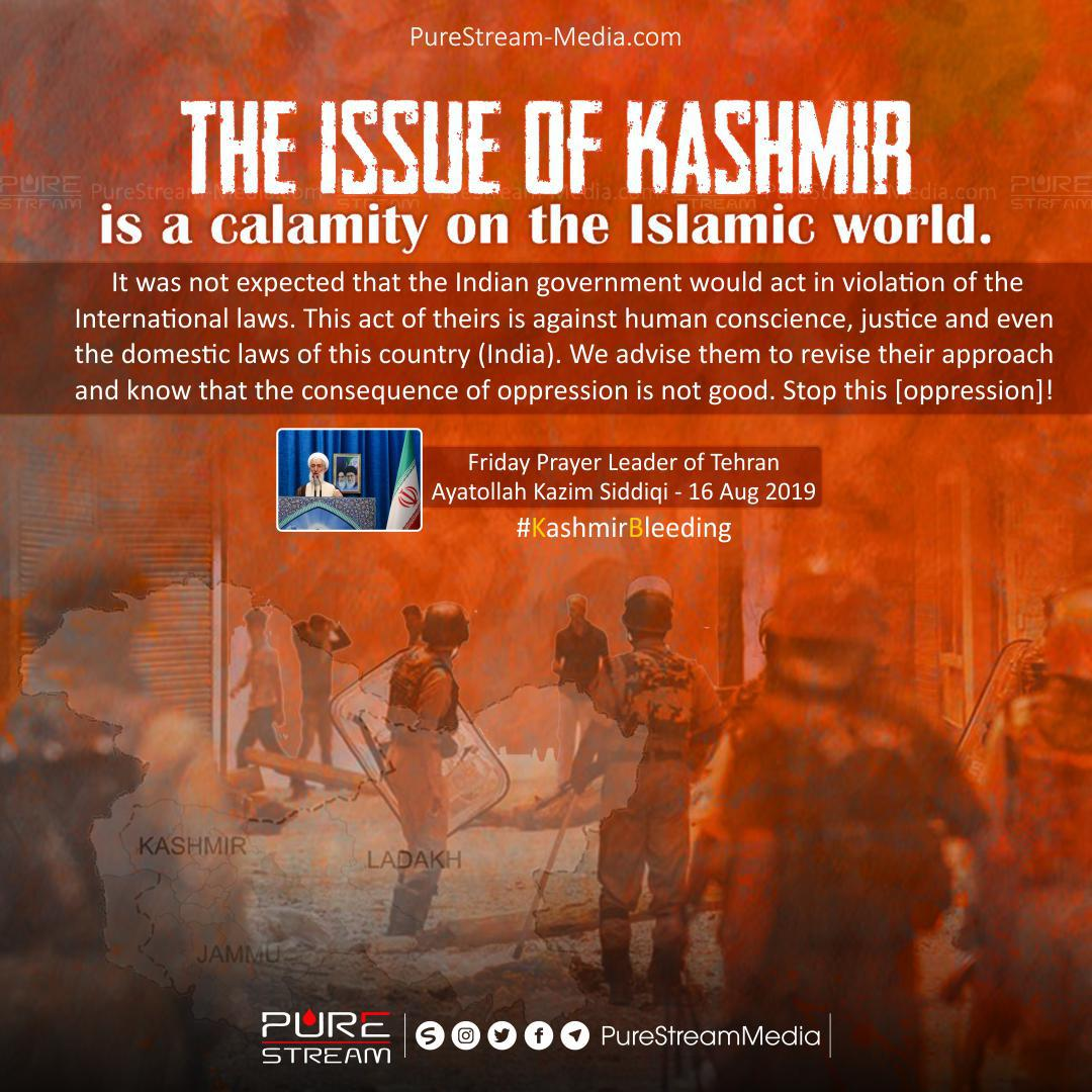 The issue of Kashmir is a calamity…