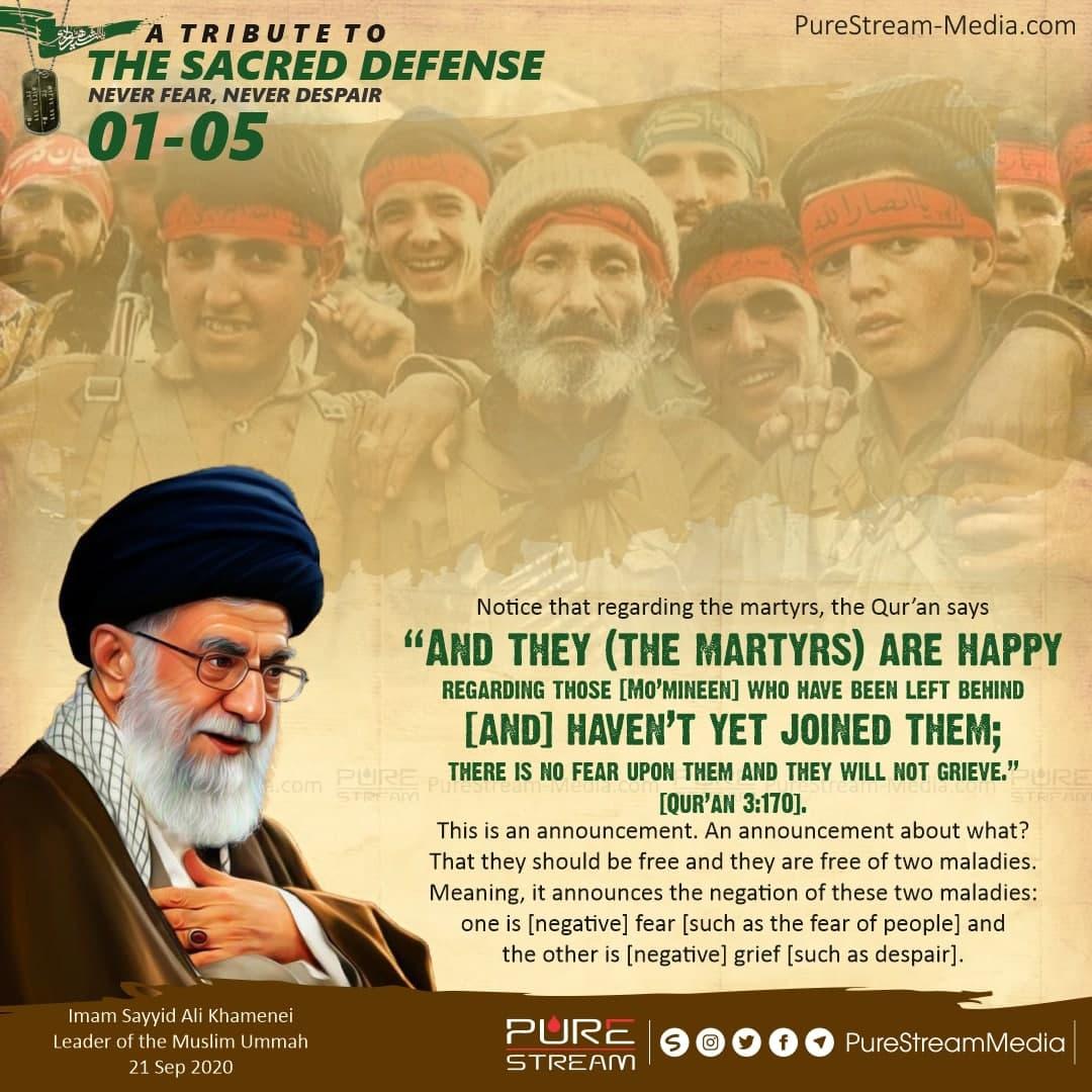 Notice that regarding the martyrs…