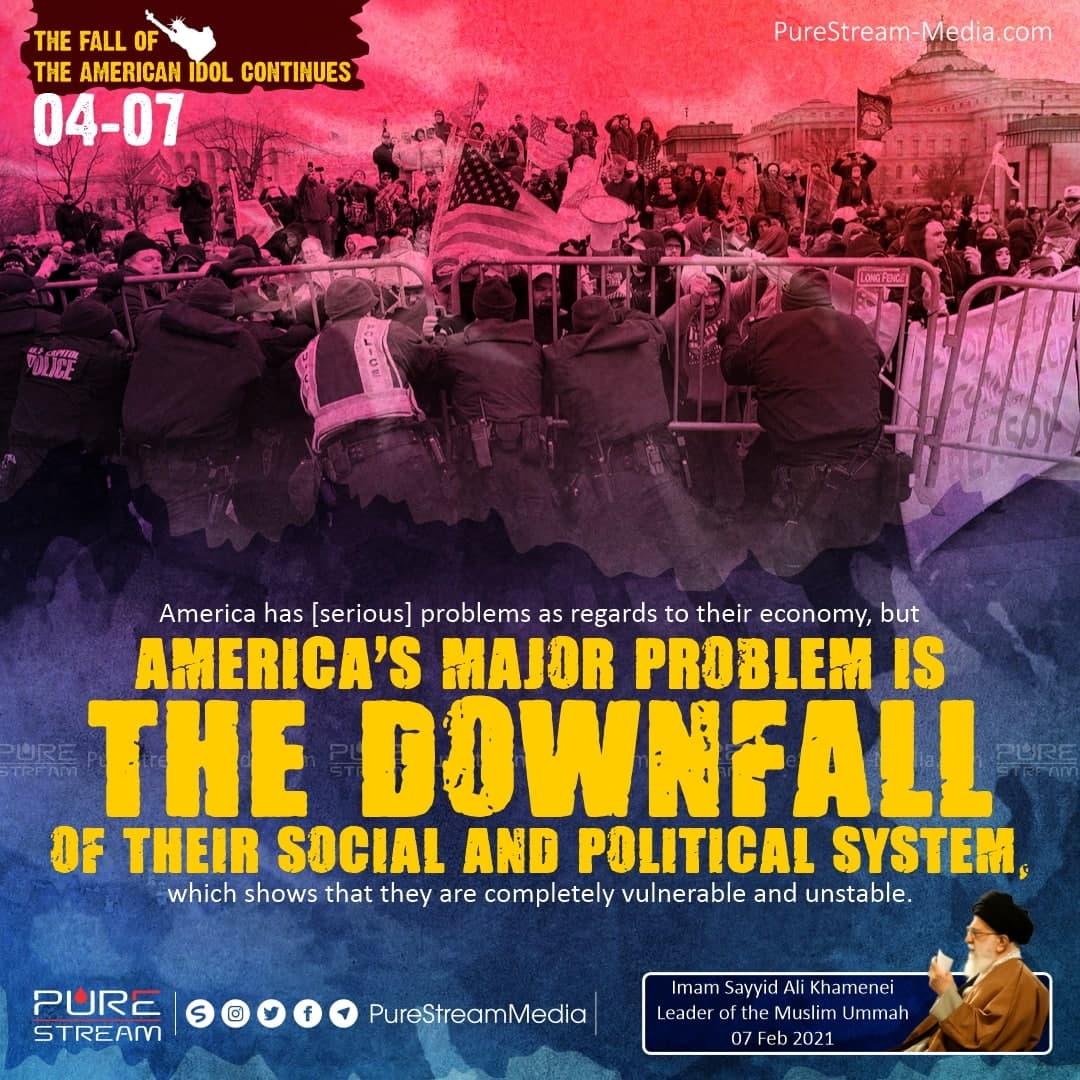 America has [serious] problems as regards…