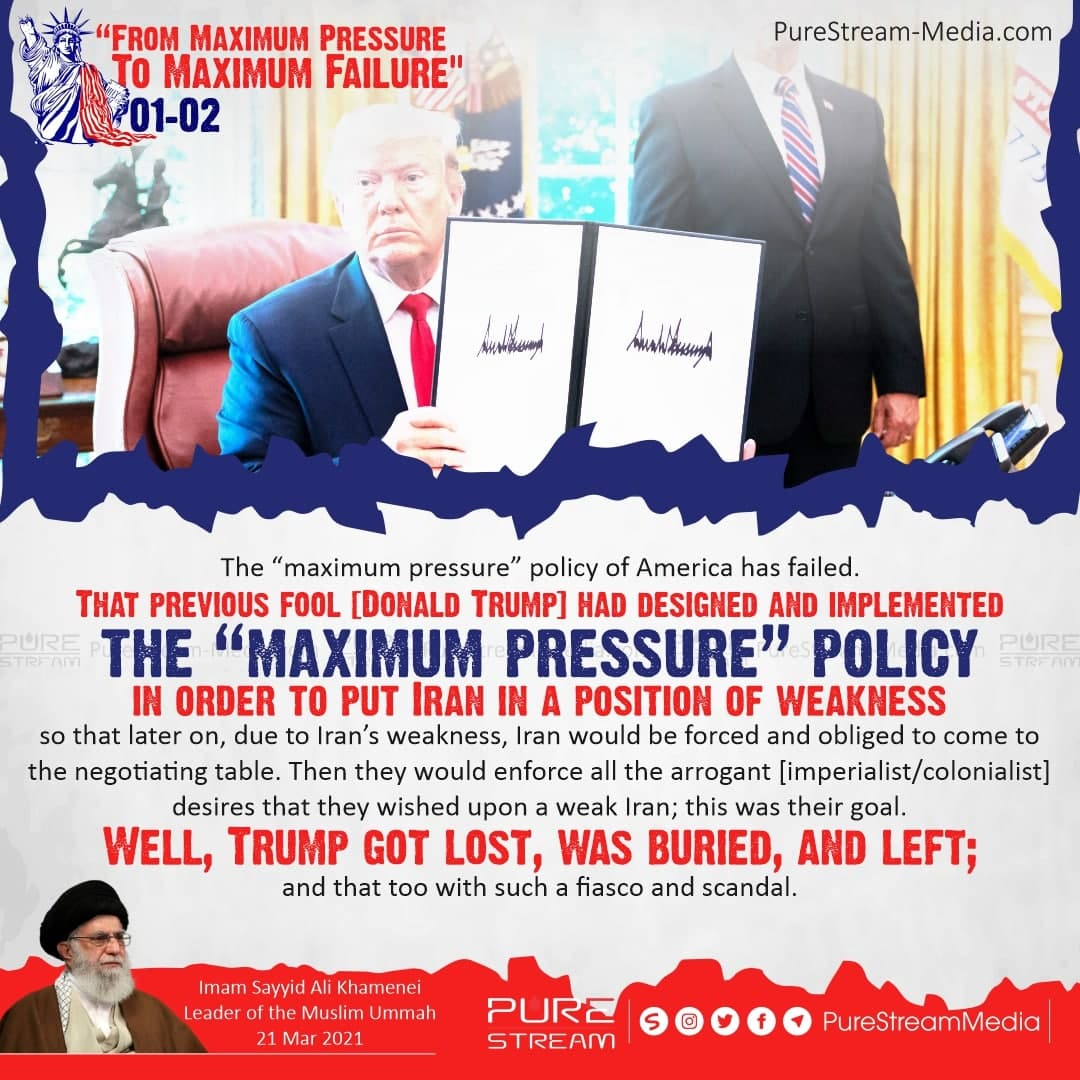 "The ""maximum pressure"" policy of America…"