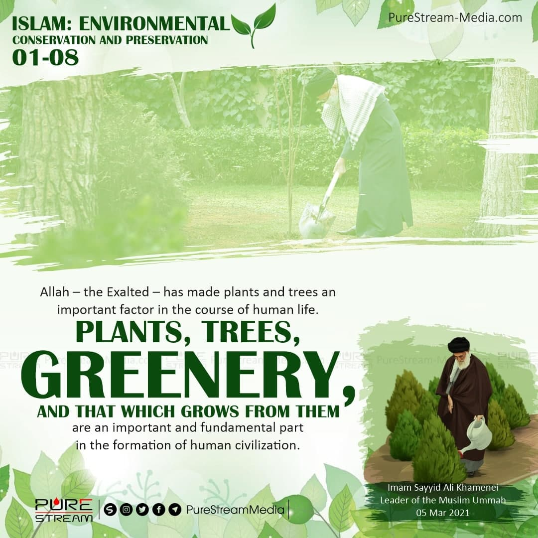 Allah – the Exalted – has made plants and trees…
