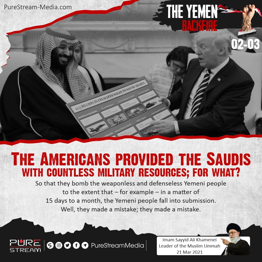 The Americans provided the Saudis with countless…