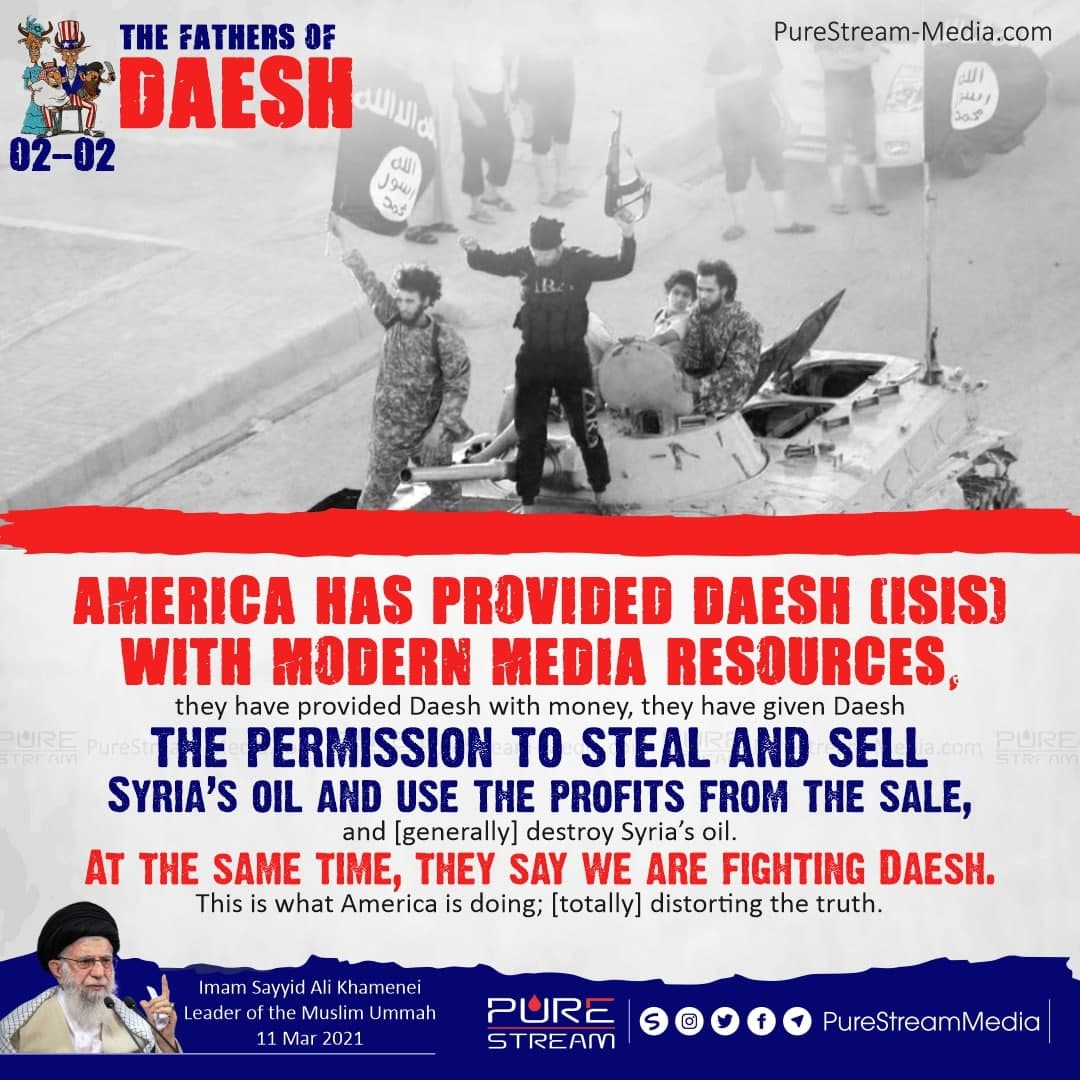 America has provided Daesh (ISIS) with modern…