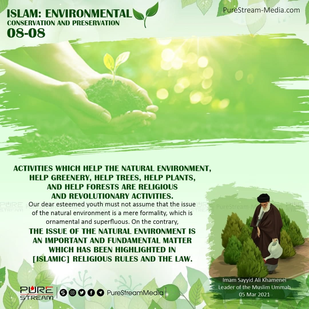 Activities which help the natural environment…