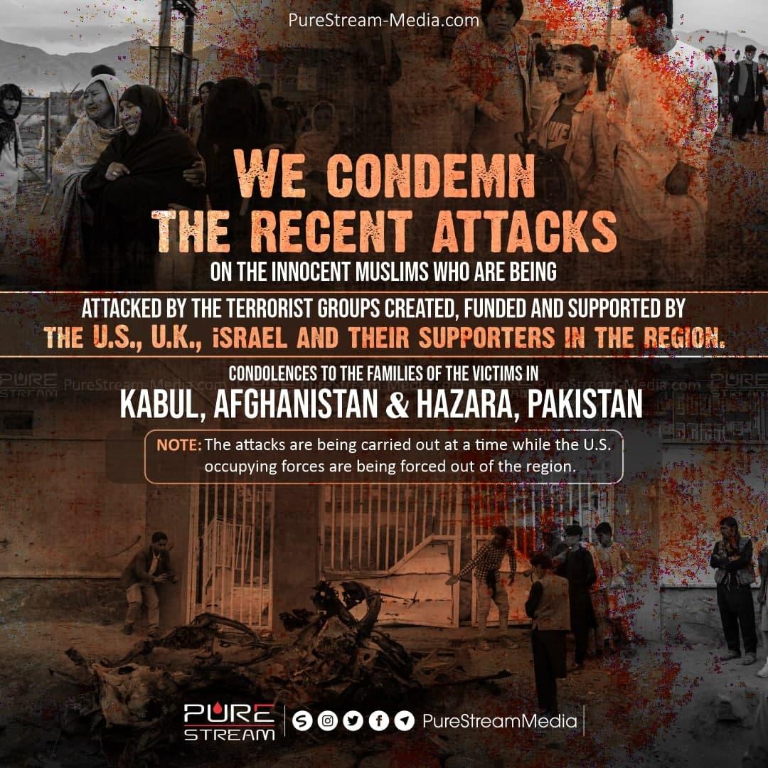 We condemn the recent attacks…