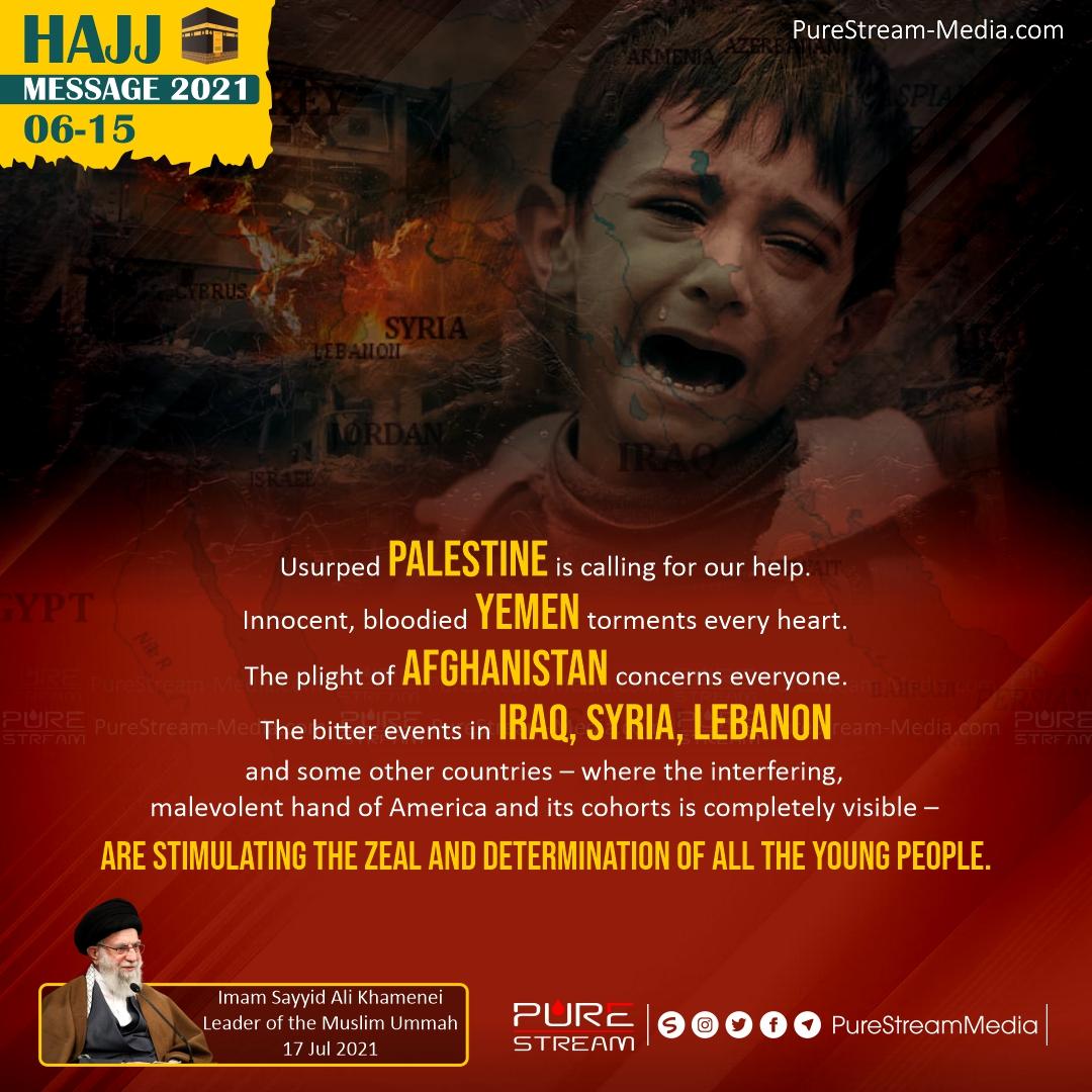 Usurped Palestine is calling…