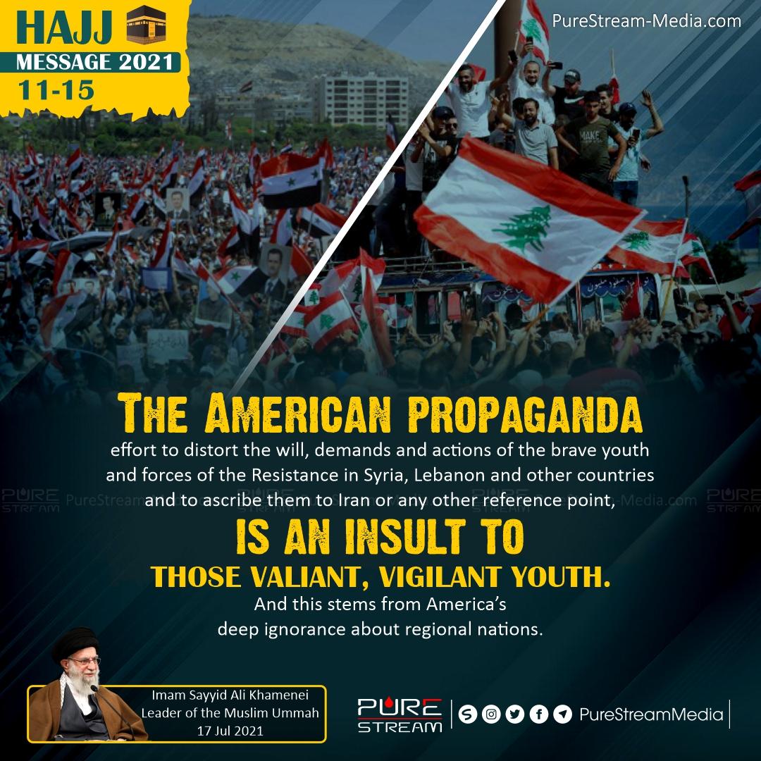 The American propaganda effort…