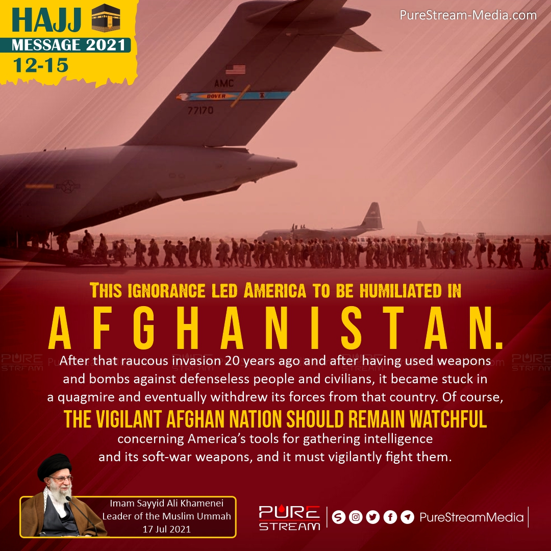 This ignorance led America to be humiliated in Afghanistan…