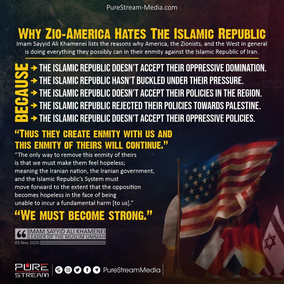 Why Zio-America Hates The Islamic Republic…