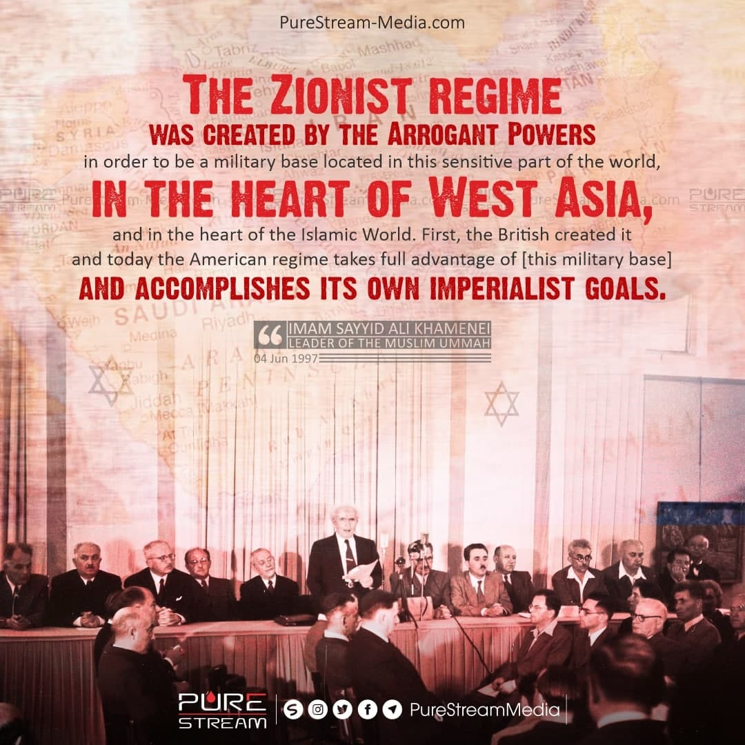 The Zionist regime was created by…